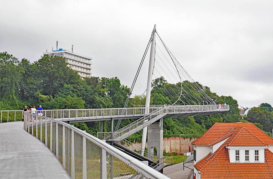 Fußgänger-Hängebrücke von Sassnitz