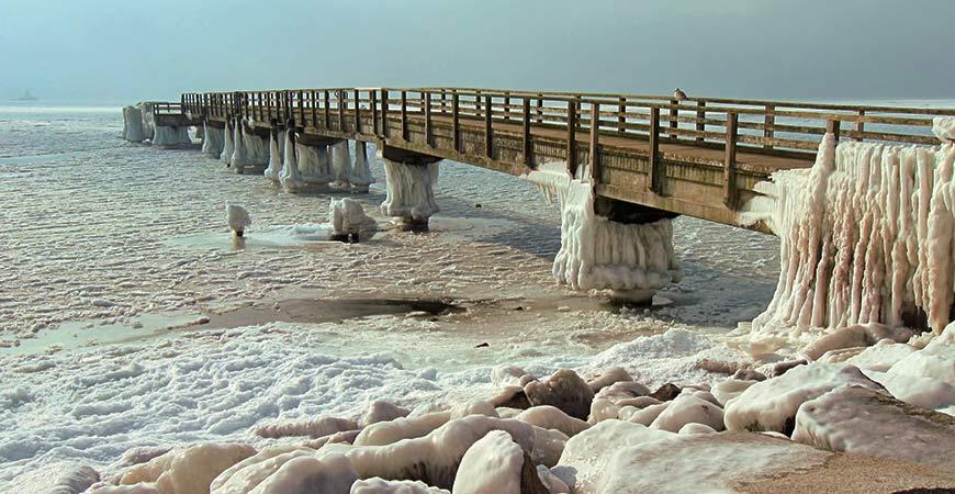 Winter in Sassnitz, Wetter in Sassnitz