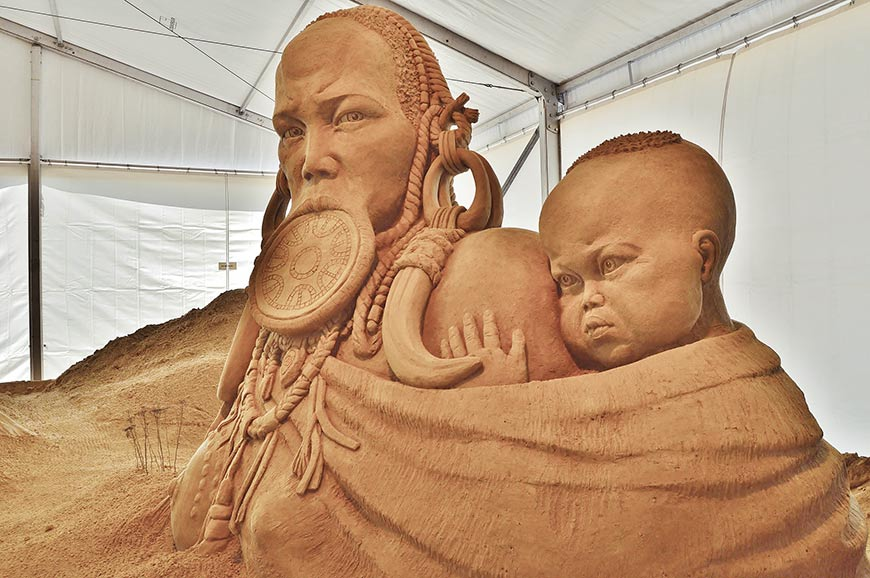 Das Sandskulpturen-Festival Binz